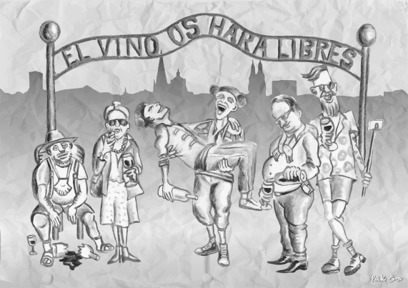 Contraportada La Chimenea Nº31 - carboncillo, dibujo vectorial, retoque digital