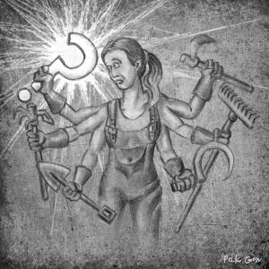 Dibujo La Chimenea Nº 31, 2016 - carboncillo, conté, retoque digital