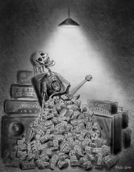 ilustración para CGTH Records (Cretins Go To Heaven)