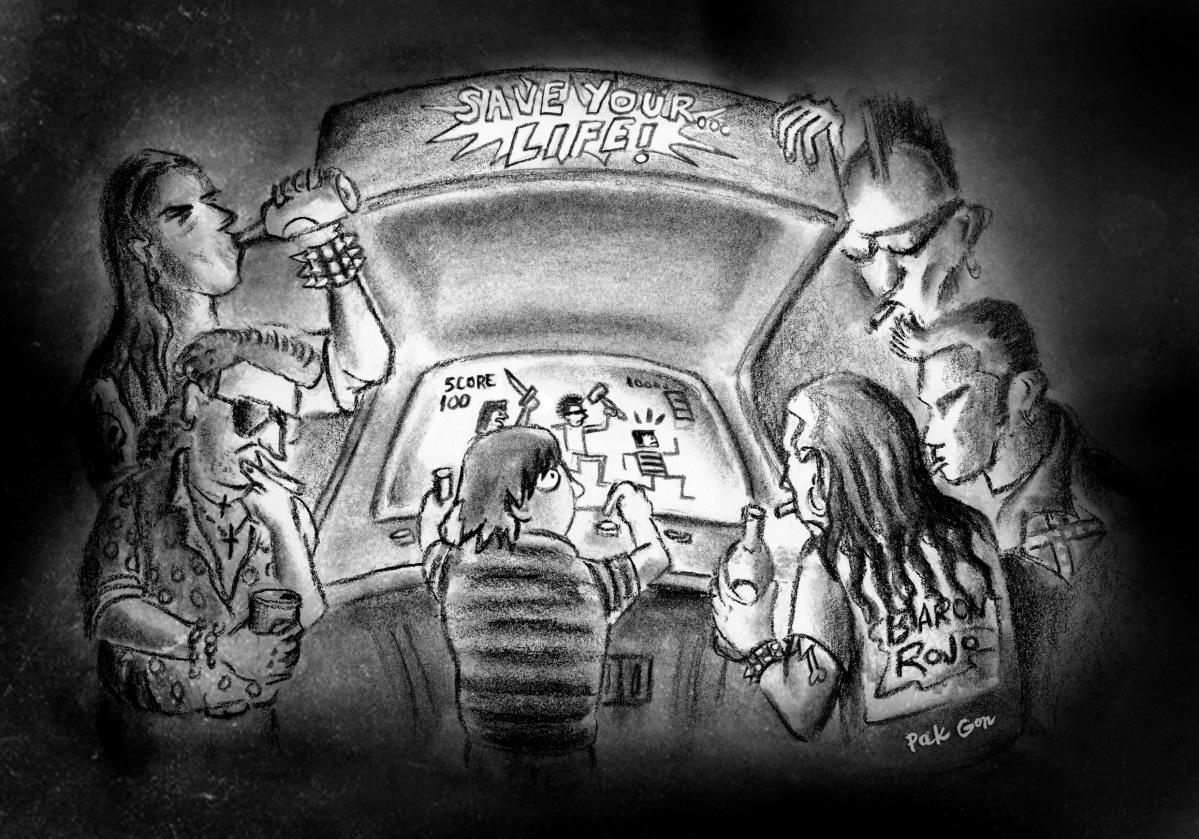 ilustración para Fanzine La Chimenea nº50 - carboncillo, conté, retoque digital